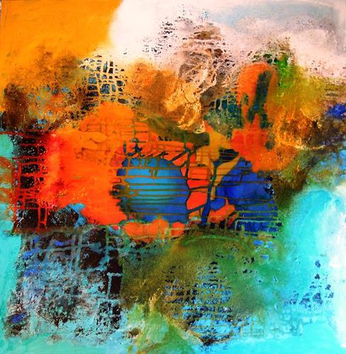 Ursula Venosta, Feuer und Wasser, Natur, Abstrakter Expressionismus, Expressionismus