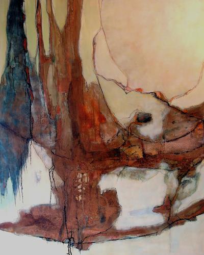 Ursula Venosta, Regenwald I, Fantasie, Gegenwartskunst, Expressionismus