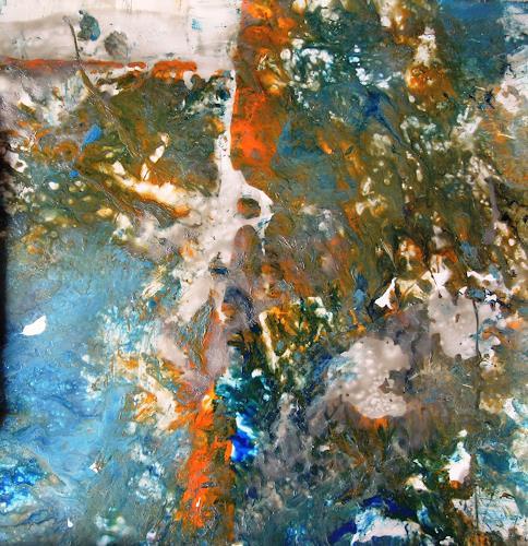 Ursula Venosta, Es malt mich, Fantasie, Prozesskunst, Abstrakter Expressionismus