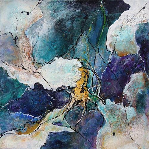 Ursula Venosta, Entzücken I, Gefühle: Freude, Abstrakte Kunst, Abstrakter Expressionismus