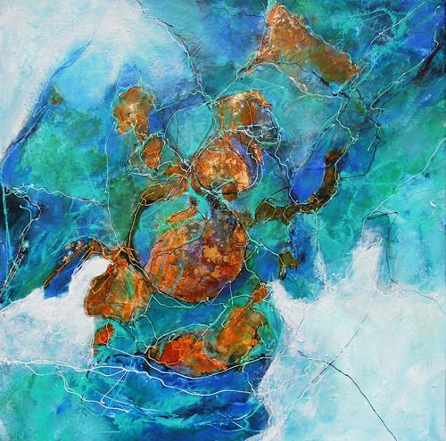 Ursula Venosta, Erde und Wasser, Natur: Diverse, Abstrakter Expressionismus, Expressionismus
