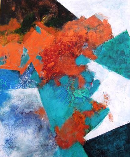 Ursula Venosta, Traumzeit 1, Fantasie, Abstrakter Expressionismus, Expressionismus