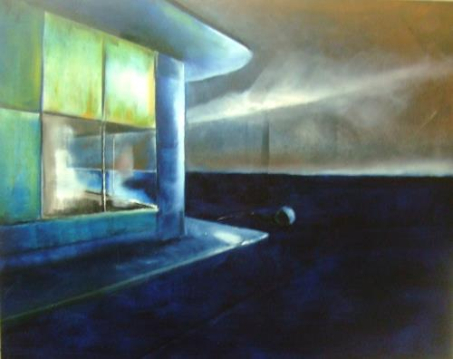 Klaus Behncke, gefallener Mond, Diverse Bauten, Gefühle: Trauer, Gegenwartskunst, Expressionismus