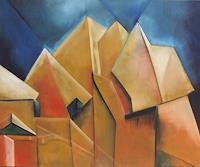 Klaus-Behncke-Architektur-Landschaft-Berge-Gegenwartskunst--Gegenwartskunst-
