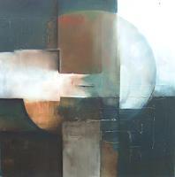 Klaus-Behncke-Abstraktes-Weltraum-Mond-Gegenwartskunst--Gegenwartskunst-