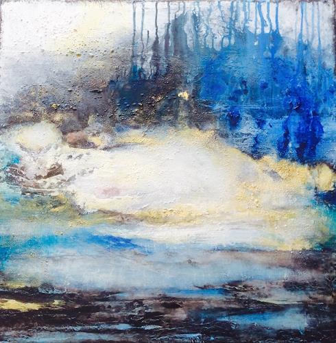 ingeborg zinn, Im alten Land, Landschaft, Abstraktes, Abstrakter Expressionismus