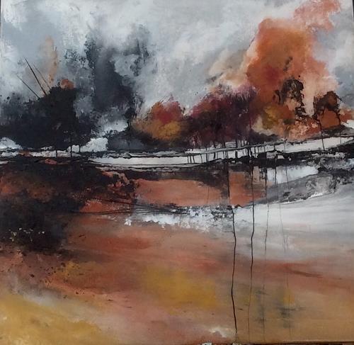 ingeborg zinn, Bevor es still wird, Landschaft: Herbst, Diverse Landschaften, Abstrakter Expressionismus
