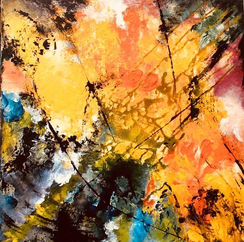 ingeborg zinn, Jungle, Abstraktes, Dekoratives, Abstrakter Expressionismus