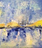 ingeborg-zinn-Landschaft-See-Meer-Moderne-Expressionismus-Abstrakter-Expressionismus