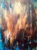 ingeborg zinn, Mystic fire, Abstraktes, Natur, Abstrakter Expressionismus