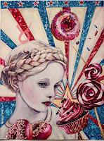 Ute-Bescht-Menschen-Kinder-Dekoratives-Moderne-Pop-Art