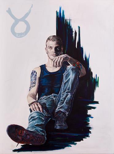 Ute Bescht, Alienated Youth, Menschen: Modelle, Gefühle: Stolz, expressiver Realismus, Abstrakter Expressionismus