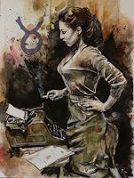 Ute-Bescht-Menschen-Frau-Menschen-Portraet-Moderne-expressiver-Realismus