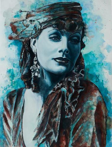 Ute Bescht, Greta The Great, Menschen: Porträt, Menschen: Frau, Hyperrealismus, Expressionismus