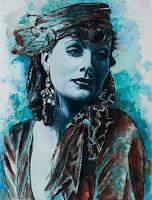Ute-Bescht-Menschen-Portraet-Menschen-Frau-Moderne-Fotorealismus-Hyperrealismus
