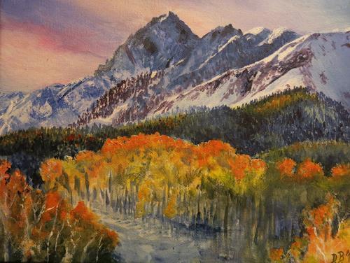 Daniela Böker, Blue Fall, Landschaft: Berge, Landschaft: Herbst, Naturalismus