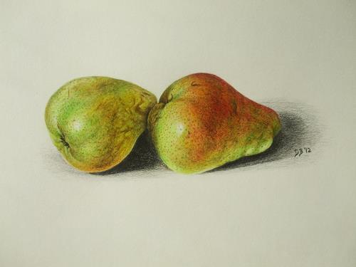 Daniela Böker, Birnenmahl - eine Birnenstudie, Pflanzen: Früchte, Essen, Naturalismus, Expressionismus