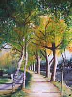 Daniela-Boeker-Landschaft-Herbst-Pflanzen-Baeume-Moderne-Naturalismus