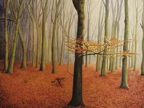 Daniela Böker, the last ones..., Natur: Wald, Landschaft: Herbst, Realismus, Expressionismus