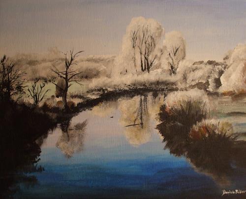 Daniela Böker, Die Ems im Winterzauber, Landschaft: Winter, Natur: Wasser, Naturalismus