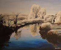 Daniela-Boeker-Landschaft-Winter-Natur-Wasser-Moderne-Naturalismus