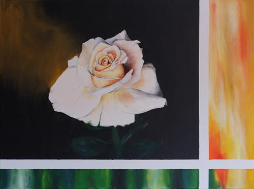 Daniela Böker, Weiße Rose, Pflanzen: Blumen, Naturalismus