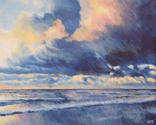 Daniela Böker, sea and clouds, Landschaft: See/Meer, Natur: Wasser, Impressionismus