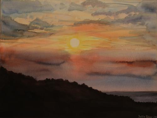 Daniela Böker, O/T, Landschaft: Sommer, Landschaft: Hügel, Realismus, Expressionismus