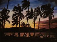 Daniela-Boeker-Landschaft-See-Meer-Landschaft-Tropisch-Neuzeit-Realismus