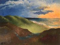 Daniela-Boeker-Landschaft-Landschaft-Huegel-Moderne-Impressionismus