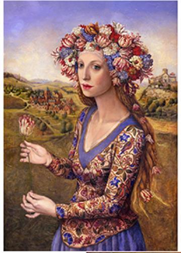 Victoria Francisco, Girl with tulip, Fantasie, Symbol, Symbolismus
