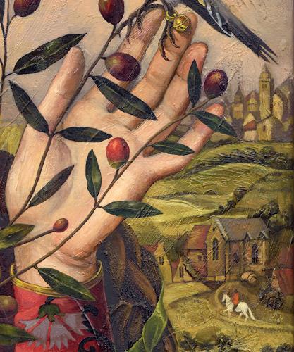 Victoria Francisco, A girl with bird.Juliette.Detail., Fantasie, Symbol, Symbolismus