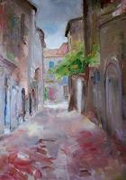 Ellen-Fasthuber-Huemer-Landschaft-Sommer-Architektur-Moderne-Impressionismus-Postimpressionismus