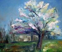 Ellen-Fasthuber-Huemer-Pflanzen-Baeume-Pflanzen-Baeume-Moderne-Impressionismus-Postimpressionismus