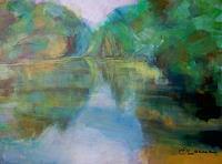 Ellen-Fasthuber-Huemer-Landschaft-See-Meer-Moderne-Impressionismus-Postimpressionismus