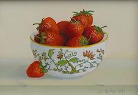 Peter Kempf, Erdbeeren in einer Schale