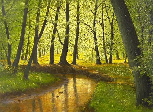 Peter Kempf, Waldbach, Natur: Wald, Naturalismus, Expressionismus