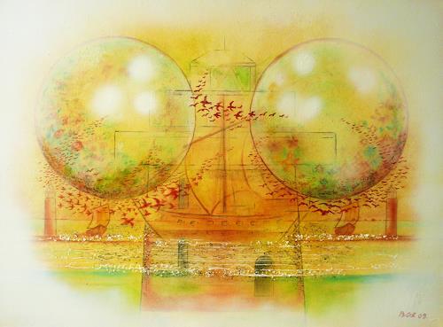 Bernhard Ost, Fernweh, Abstraktes, Fantasie, Gegenwartskunst