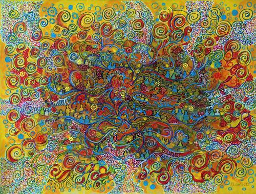 Bernhard Ost, Flower-power, Abstraktes, Gefühle, Gegenwartskunst
