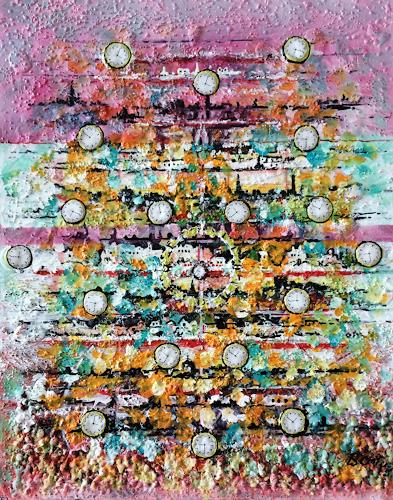 Bernhard Ost, Zeitreise, Abstraktes, Gegenwartskunst, Expressionismus