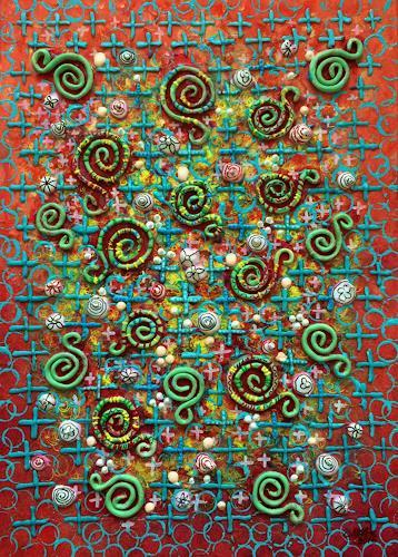 Bernhard Ost, Rotation des Lebens, Abstraktes, Fantasie, Moderne