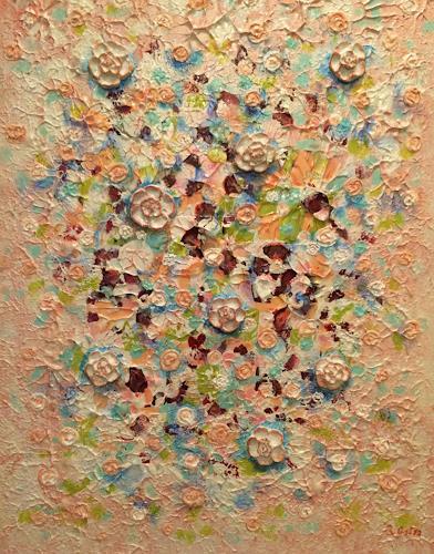 Bernhard Ost, Blütenwind, Abstraktes, Gegenwartskunst