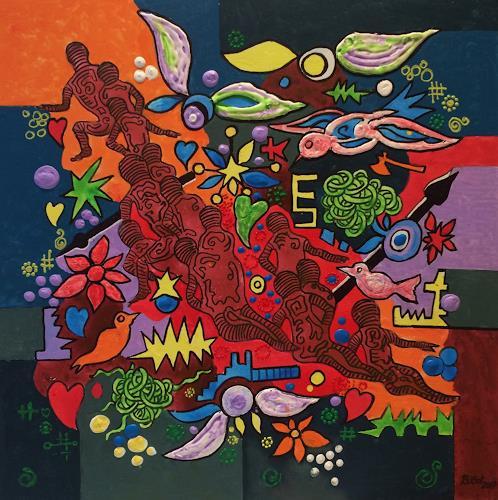 Bernhard Ost, Die Suchenden, Fantasie, Diverse Gefühle, Moderne, Expressionismus