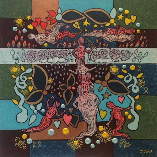 Bernhard Ost, Siebter Himmel, Gefühle: Liebe, Fantasie, Gegenwartskunst, Expressionismus