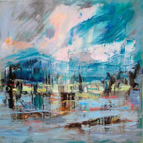 Ernest Hiltenbrand, La saison décline, Landschaft: See/Meer, Symbol, Neuzeit, Abstrakter Expressionismus