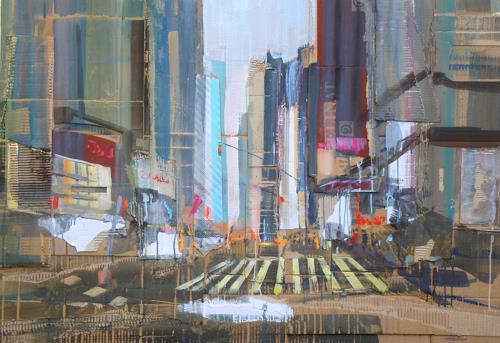 Ernest Hiltenbrand, 4 th Street North, Diverse Menschen, Verkehr, Neuzeit