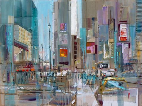 Ernest Hiltenbrand, Big Apple, Verkehr: Auto, Bauten: Hochhaus, Neuzeit, Abstrakter Expressionismus