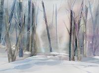 Ernest Hiltenbrand, Wald im Schnee