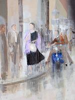 Ernest-Hiltenbrand-Menschen-Frau-Menschen-Gruppe-Moderne-Impressionismus