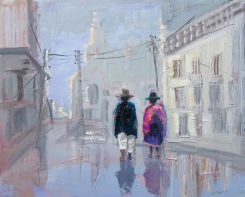 Ernest Hiltenbrand, Otavalo Curiñan, Menschen: Paare, Menschen: Gruppe, Realismus, Expressionismus